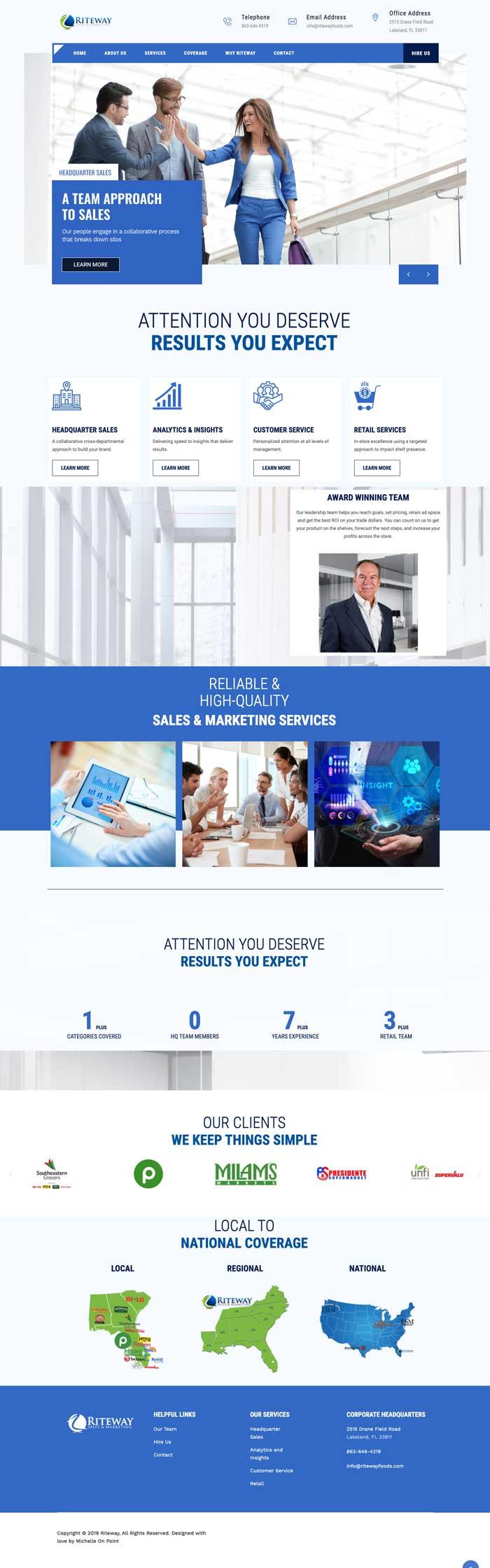 Riteway Sales & Marketing Website